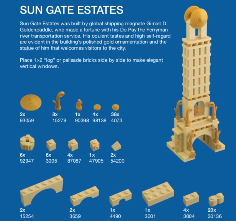LEGO Micro Cities Sun Gate Estates