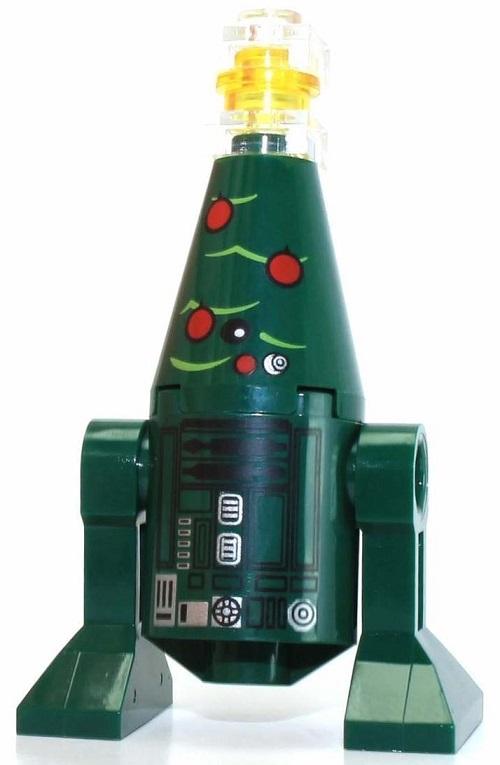 Festive Christmas Astromech - LEGO Star Wars Astromech Droid