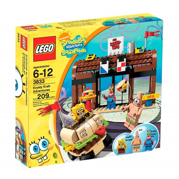 LEGO 3833 Krusty Krab Adventures - SpongeBob SquarePants Set