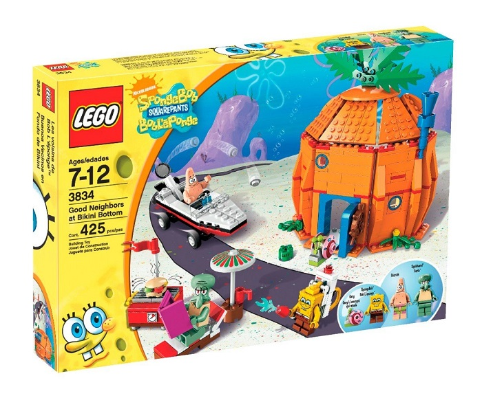 LEGO 3834 Good Neighbors at Bikini Bottom - SpongeBob SquarePants Set