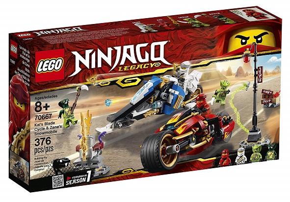 LEGO 70667 Kai's Blade Cycle and Zane's Snowmobile - 2019 LEGO Ninjago Sets