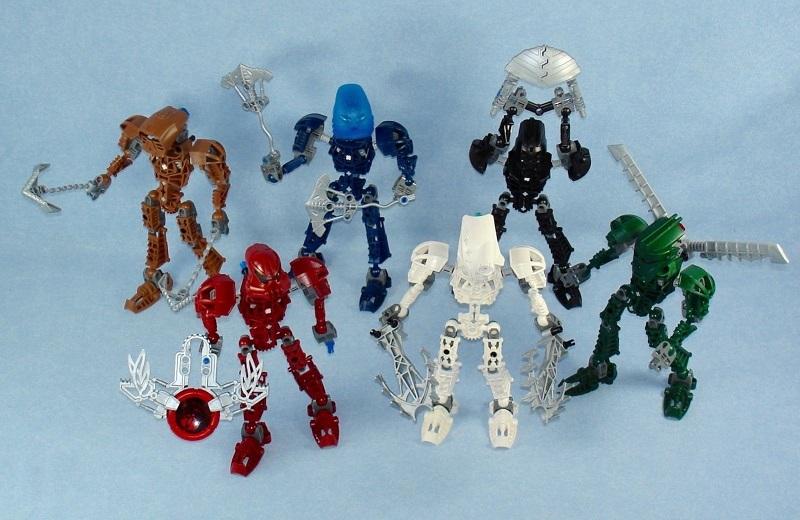 LEGO Toa Metru 8601, 8602, 8603, 8604, 8605 and 8606 - Best LEGO BIONICLE Sets