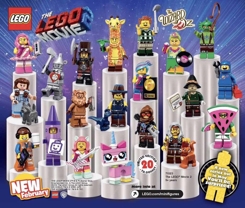 The LEGO Movie 2 Minifigures Series Collection