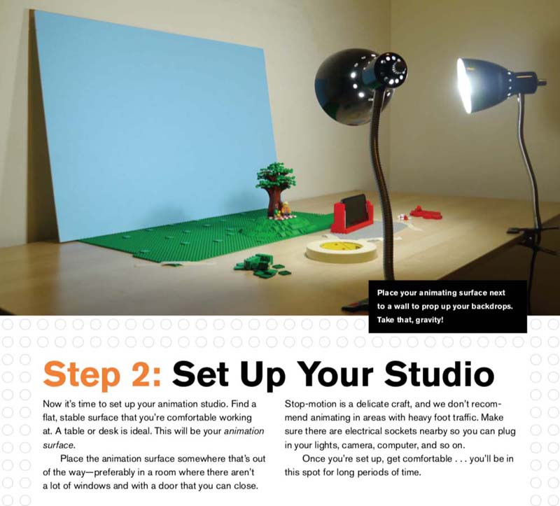 The LEGO Animation Book Studio Setting