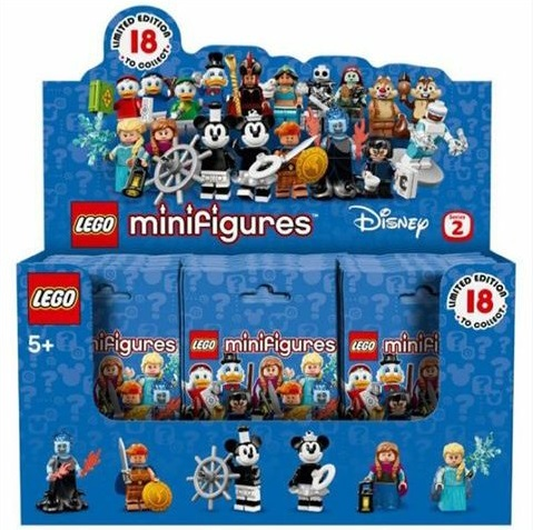 Minifigures Disney Series 2 Box of 60 Random Packs