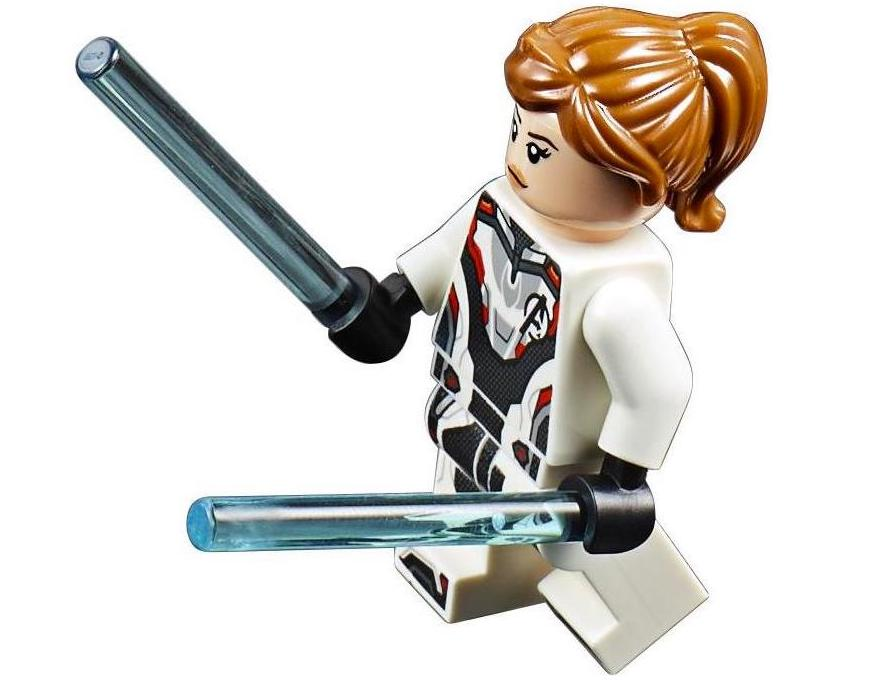 Black Widow White Avengers Suit LEGO Minifigure