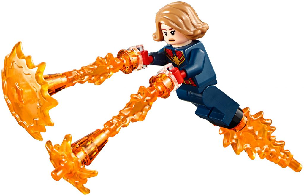 Captain Marvel Red and Blue Suit LEGO Minifigure