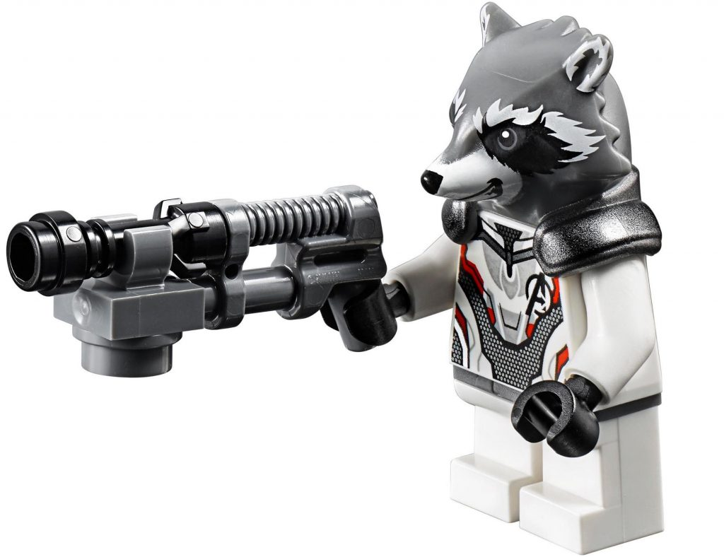 Rocket Raccoon White Avengers Suit LEGO Minifigure